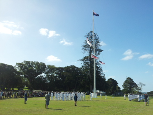 Waitangi 2013 - Navy flag ceremony