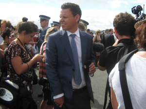 Waitangi 2013 - Patrick Gower, One News CU