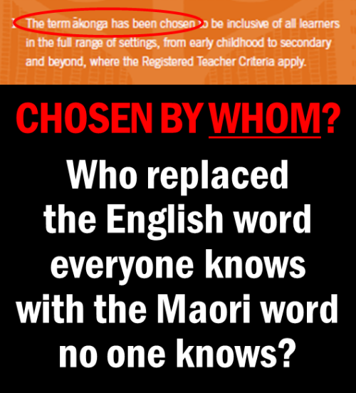NZ Teachers Council - Akonga - Chosen by Whom