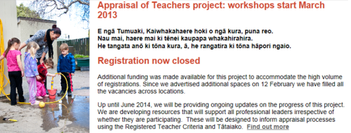 NZ Teachers Council - home page feature panel