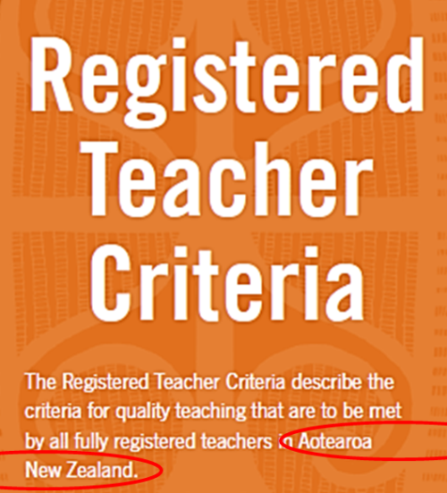 NZ Teachers Council - Registered Teacher Criteria