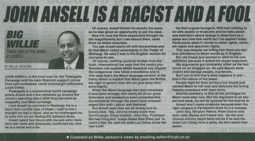 Truth cutting - John Ansell is a Racist and a Fool - Willie Jackson