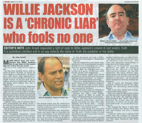 Truth cutting - Willie Jackson is a chronic liar who fools no one