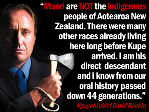 David Rankin - Maori not indigenous
