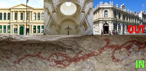 Education - Oamaru Nth School - rock drawings preferred to Victorian architecture